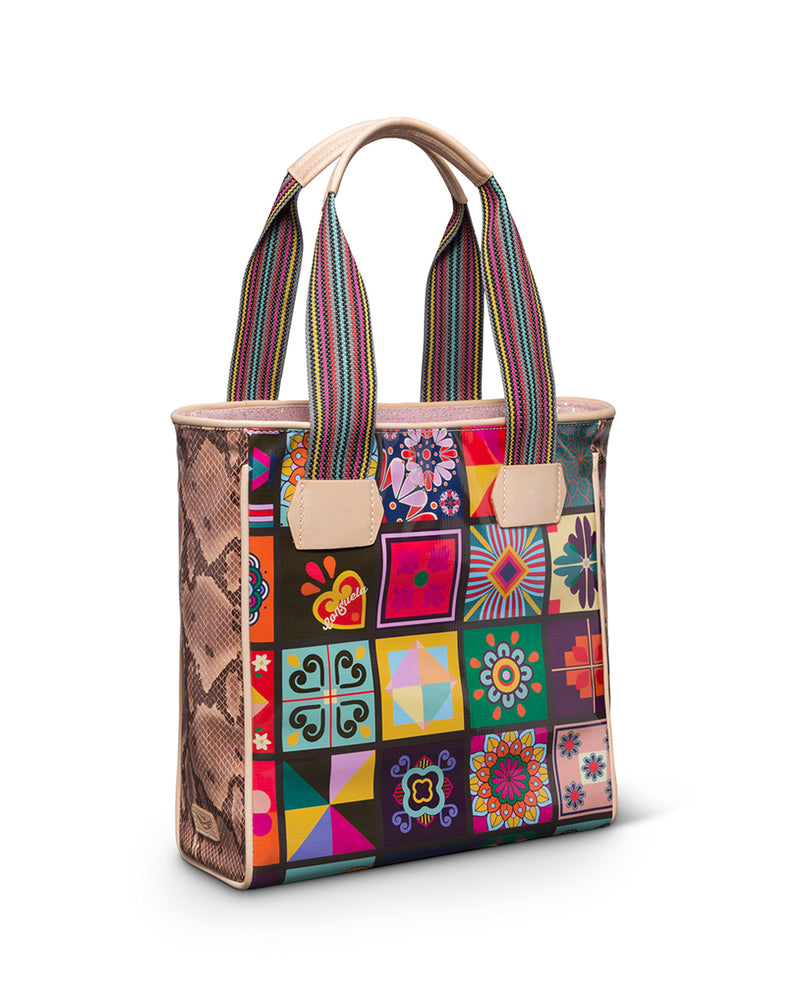 Allie Classic Tote in ConsuelaCloth™ by Consuela, side view