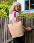 Diego Sling in natural, untreated leather by Consuela, lifestyle view