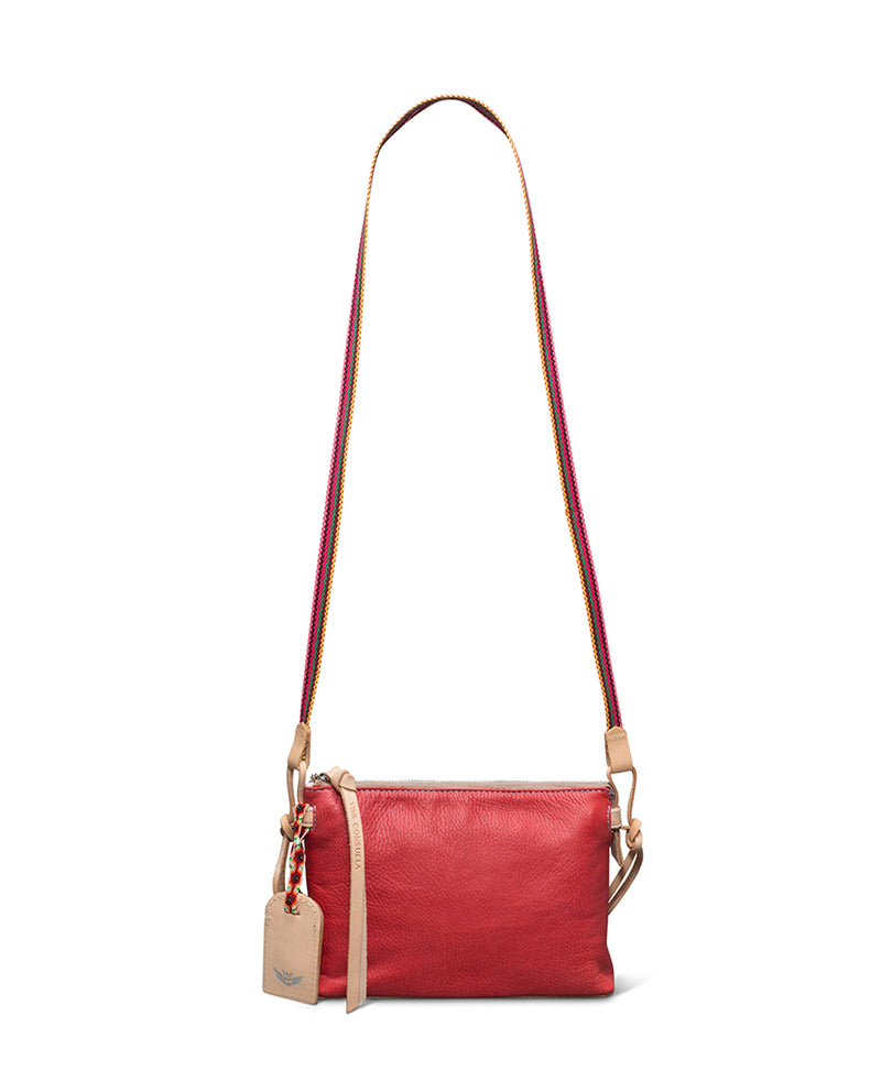 Valentina Teeny Crossbody in red leather by Consuela, front view 2