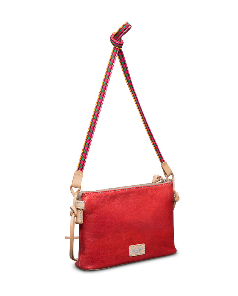 Valentina Teeny Crossbody in red leather by Consuela, back view 2