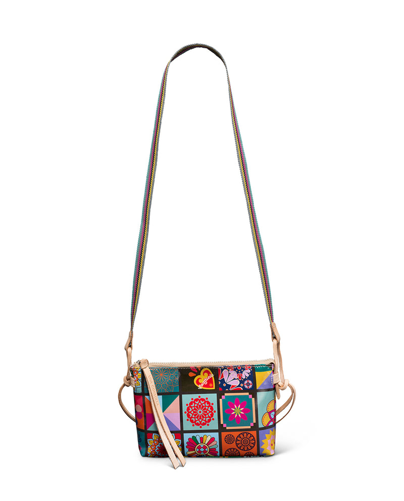 Allie Midtown Crossbody in Allie ConsuelaCloth by Consuela, strap view