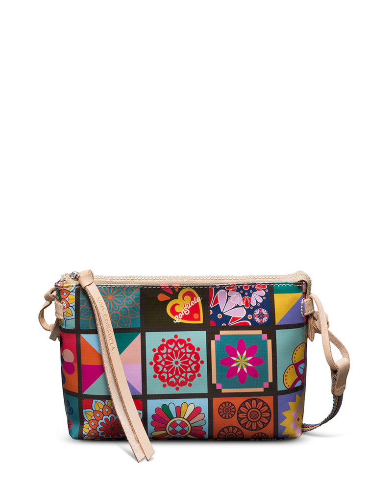 Allie Midtown Crossbody in Allie ConsuelaCloth by Consuela, back view