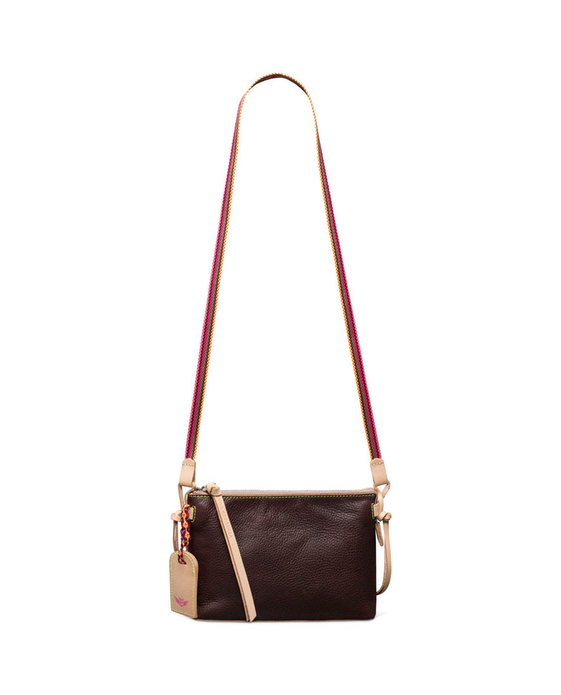 Magdalena Teeny Crossbody in brown leather by Consuela, front view 2
