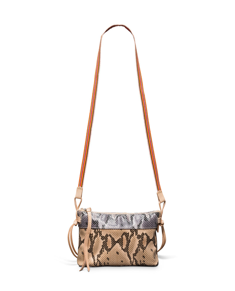 Margot Teeny Crossbody in snake print by Consuela, front view 2
