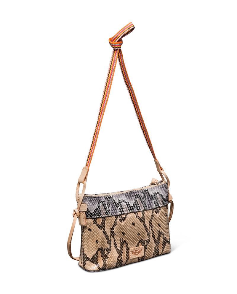Margot Teeny Crossbody in snake print by Consuela, back view2