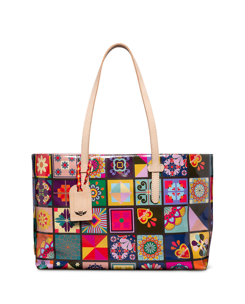 Allie East/West Tote in ConsuelaCloth™  by Consuela front view