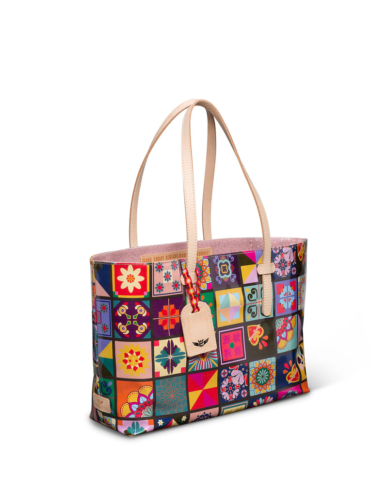 Allie East/West Tote in ConsuelaCloth™  by Consuela side view