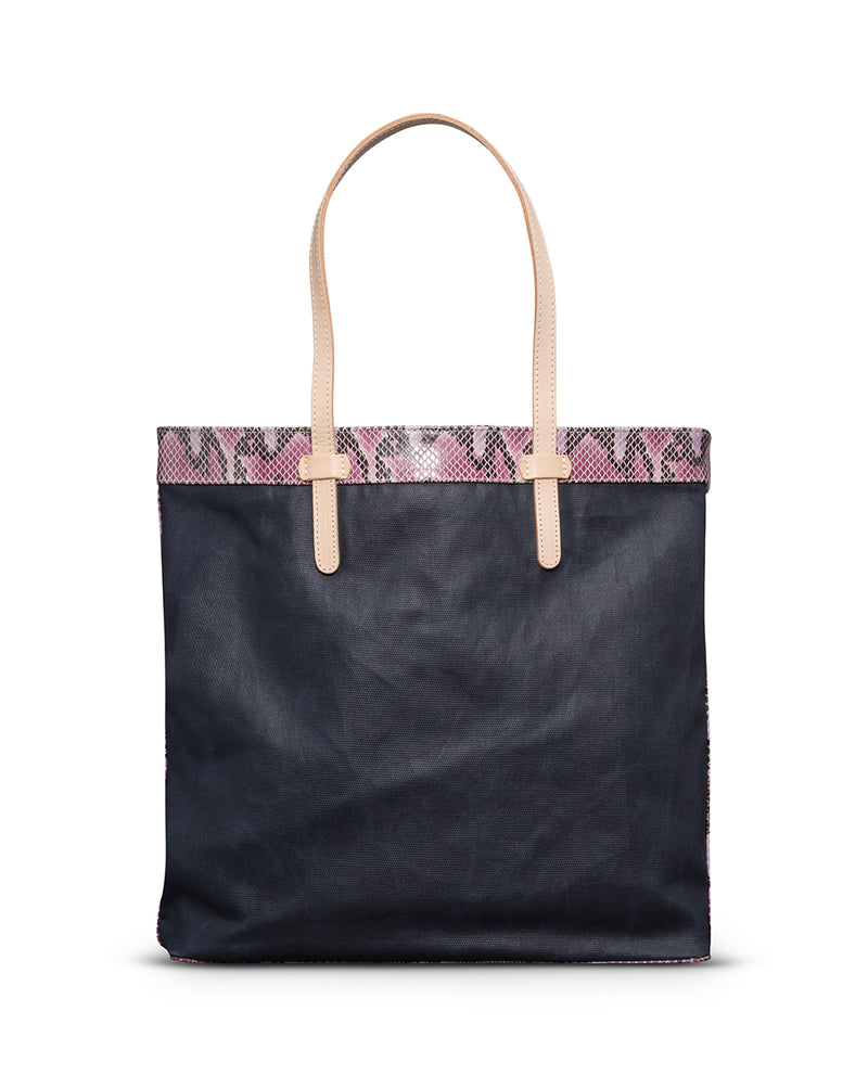 Aurora Slim Tote in waxed canvas by Consuela, front view