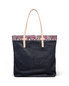 Aurora Slim Tote in waxed canvas by Consuela, back view