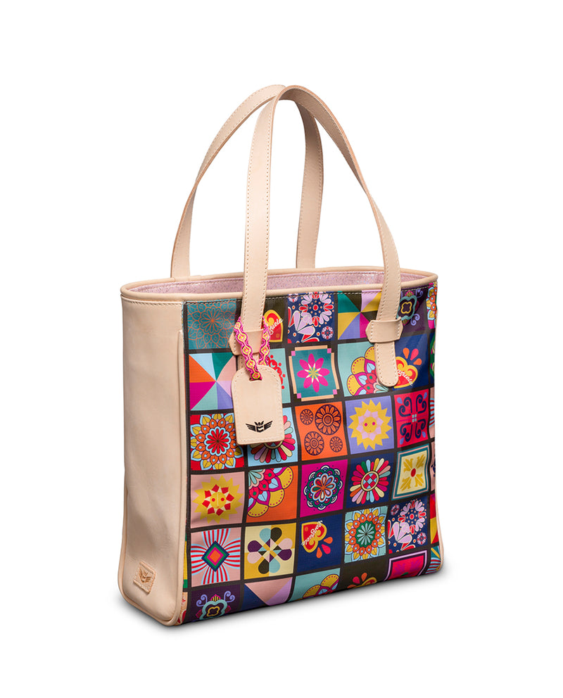Allison Classic Tote in ConsuelaCloth™ by Consuela, side view