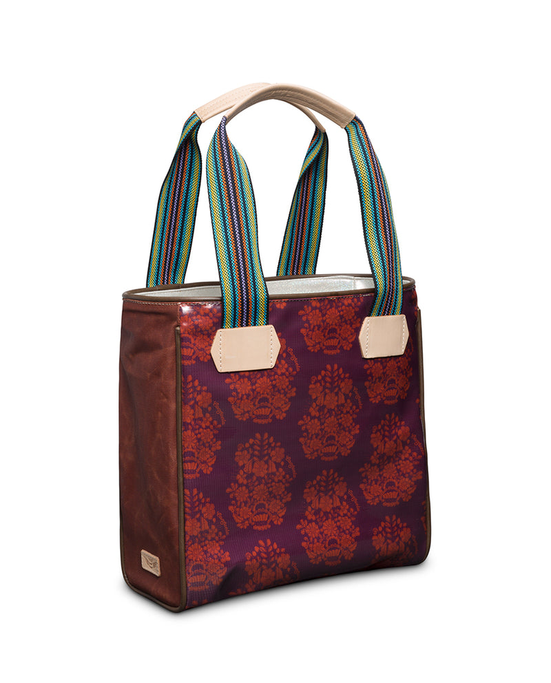 Vivi Classic Tote in  ConsuelaCloth™ by Consuela, side view