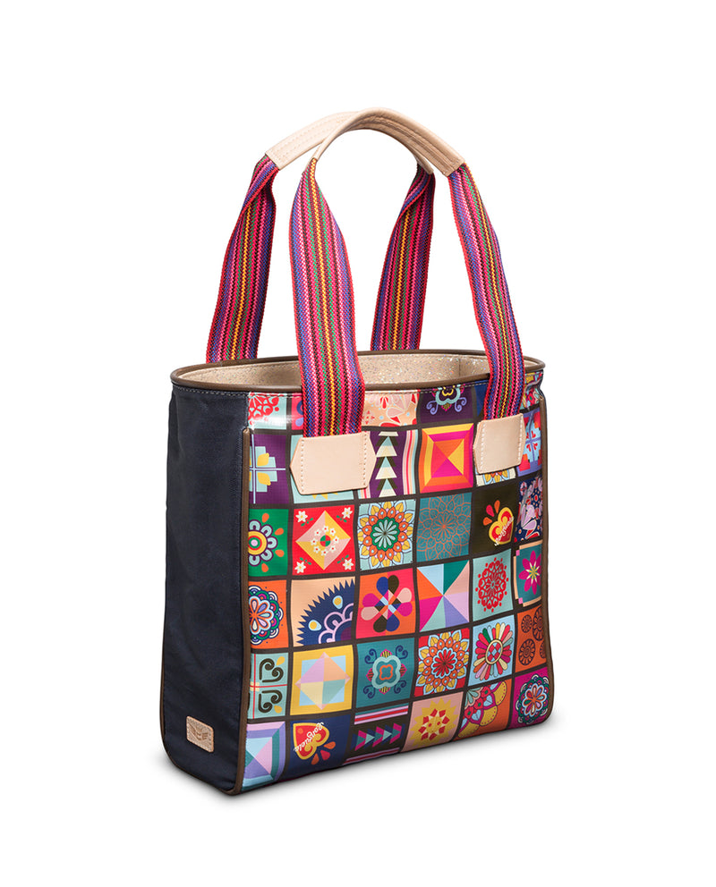 Zoey Classic Tote in ConsuelaCloth™ by Consuela, side view