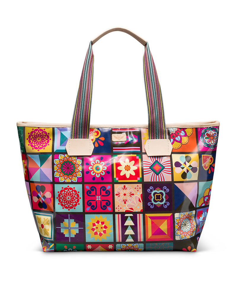 Allie Zipper Tote in ConsuelaCloth by Consuela, front view