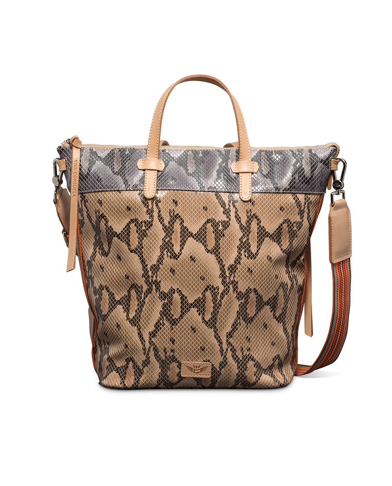 Margot Sling in snake print by Consuela, front view