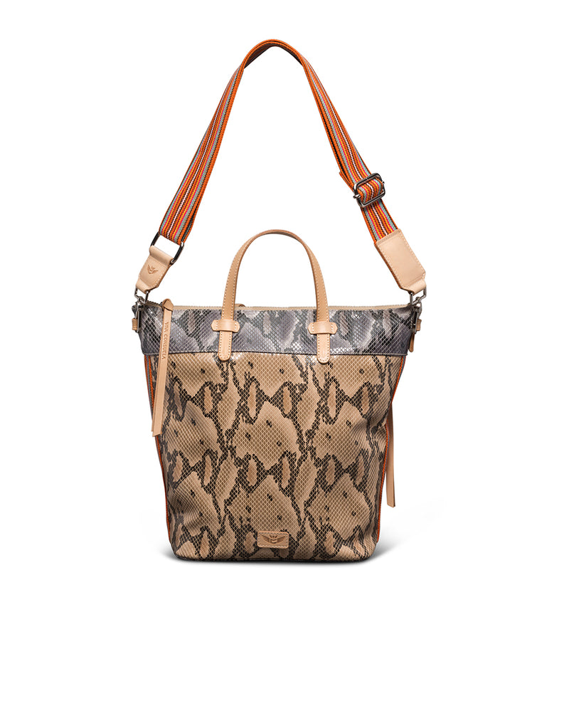 Margot Sling in snake print by Consuela, front view 2