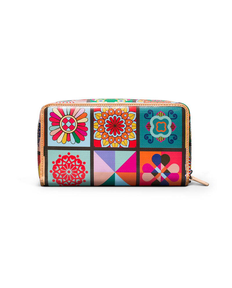 Allie Wristlet Wallet in ConsuelaCloth™ by Consuela, back view