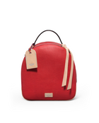 Valentina City Pack in red pebbled leather by Consuela, front view