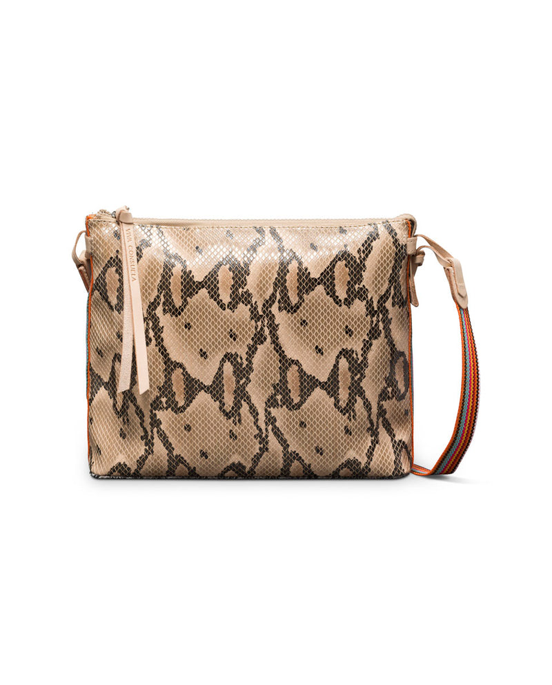 Margot Downtown Crossbody in snake print by Consuela, front view