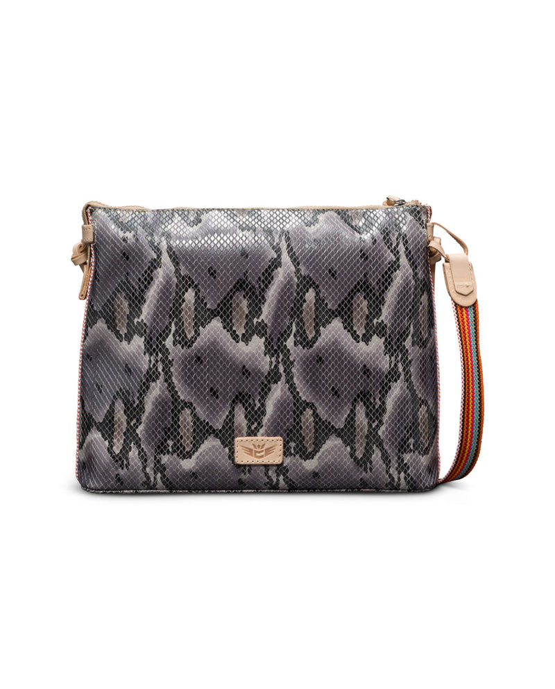 Margot Downtown Crossbody in snake print by Consuela, back