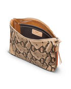 Margot Downtown Crossbody in snake print by Consuela, interior