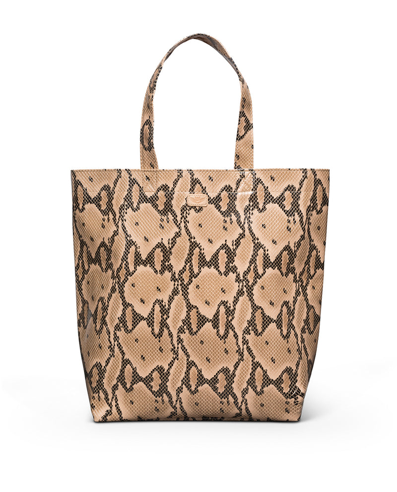 Margot Basic Bag in snake print by Consuela, front view