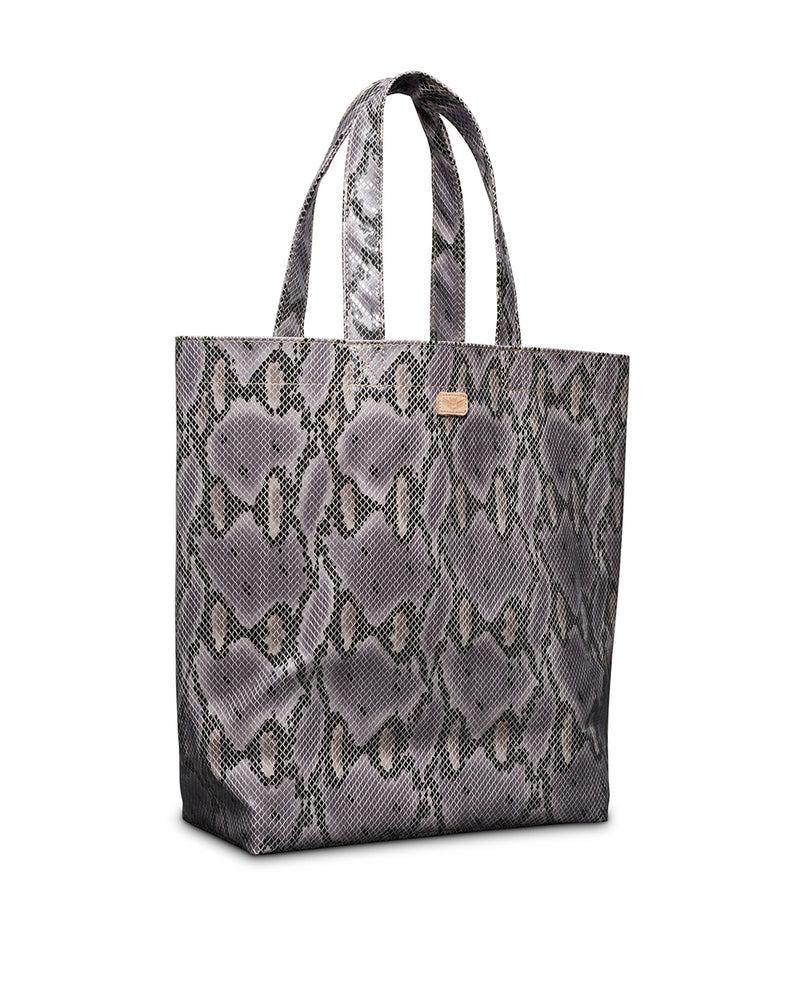 Flynn Basic Bag in snake print by Consuela, side view