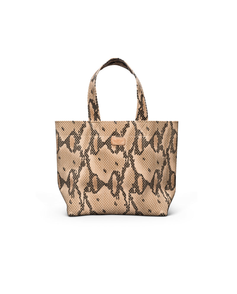 Margot Mini Bag in snake print by Consuela, front view