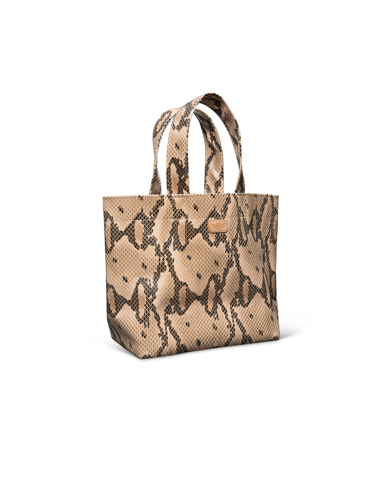 Margot Mini Bag in snake print by Consuela, side view