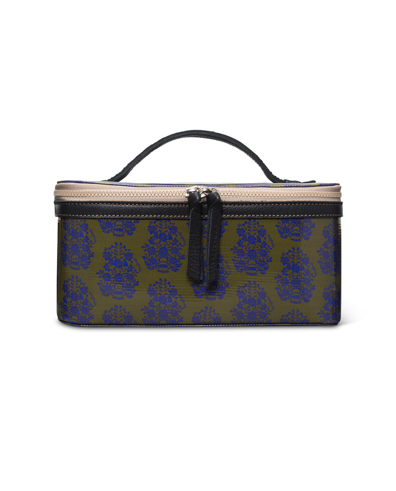 Olive Train Case in ConsuelaCloth™ by Consuela, front view