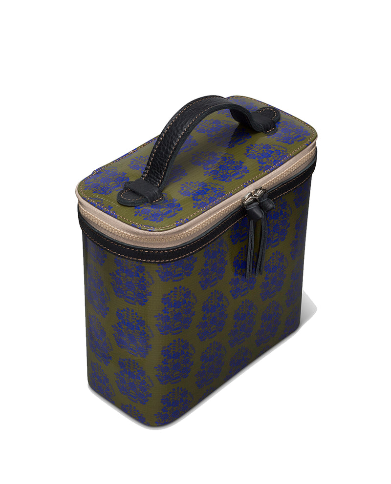 Audrey Slim Train Case in ConsuelaCloth™ by Consuela, side view