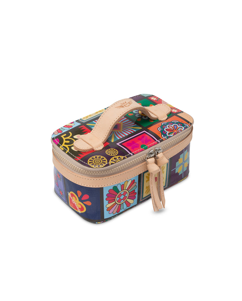 Allie Mini Train Case in ConsuelaCloth™ by Consuela, side view