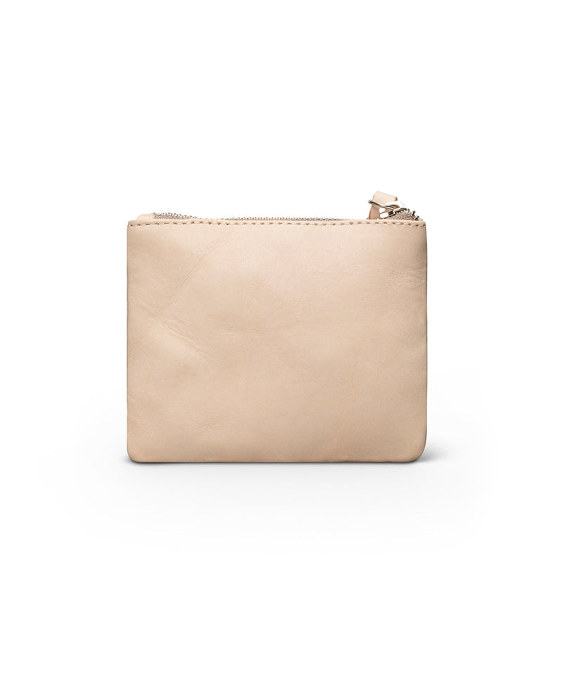 Diego Teeny Slim Wallet in natural leather, back view