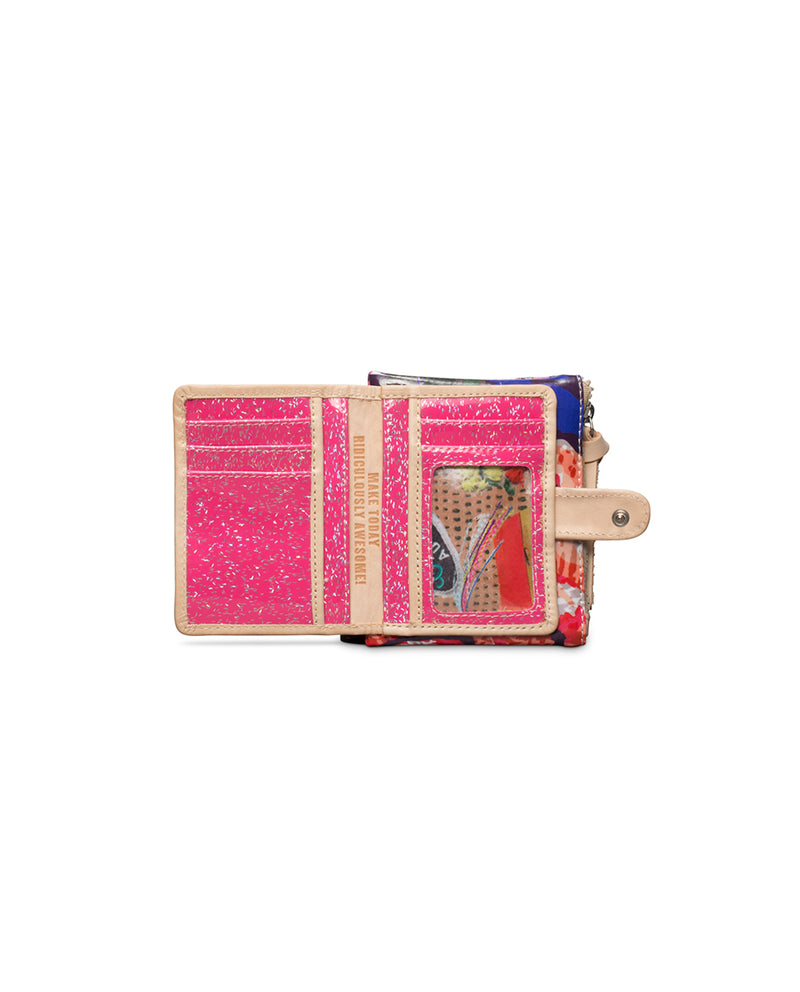 Royal Teeny Slim Wallet in ConsuelaCloth™ by Consuela, open view