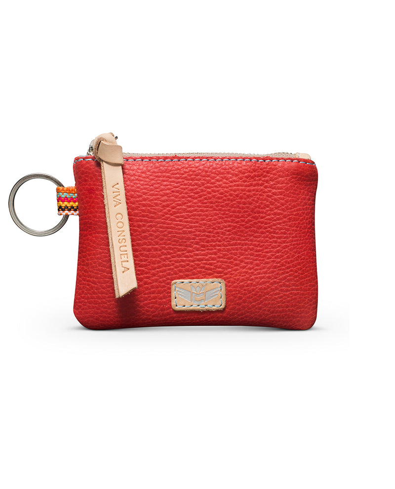 Valentina Pouch in red leather by Consuela, front view