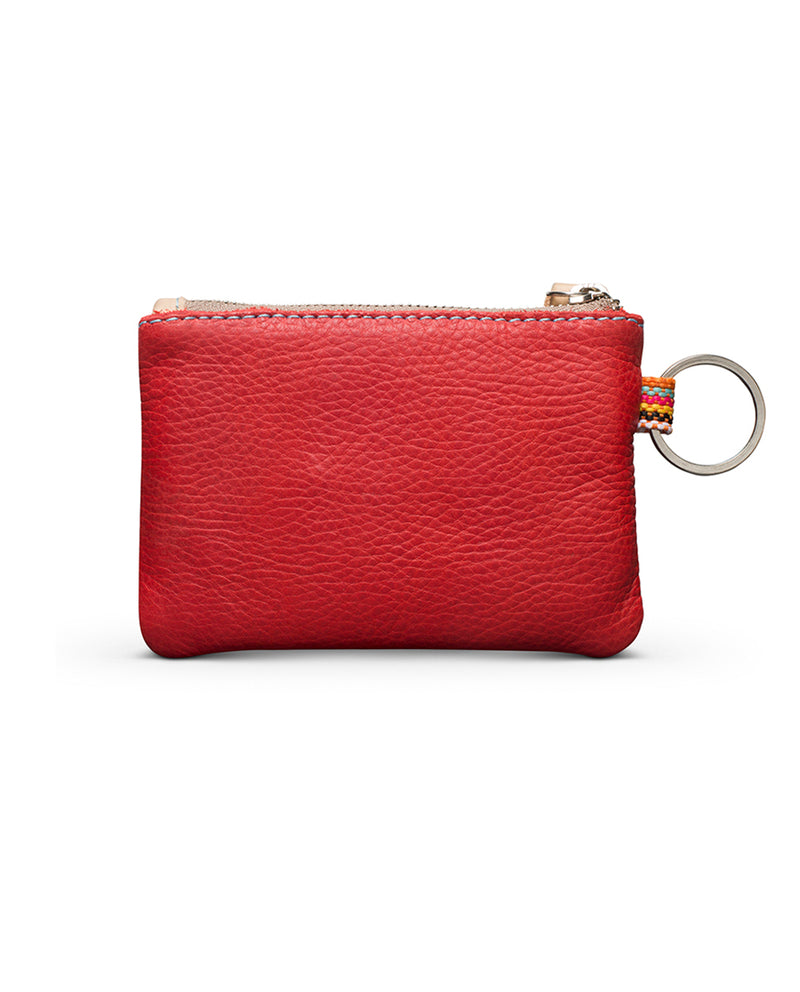 Valentina Pouch in red leather by Consuela, back view