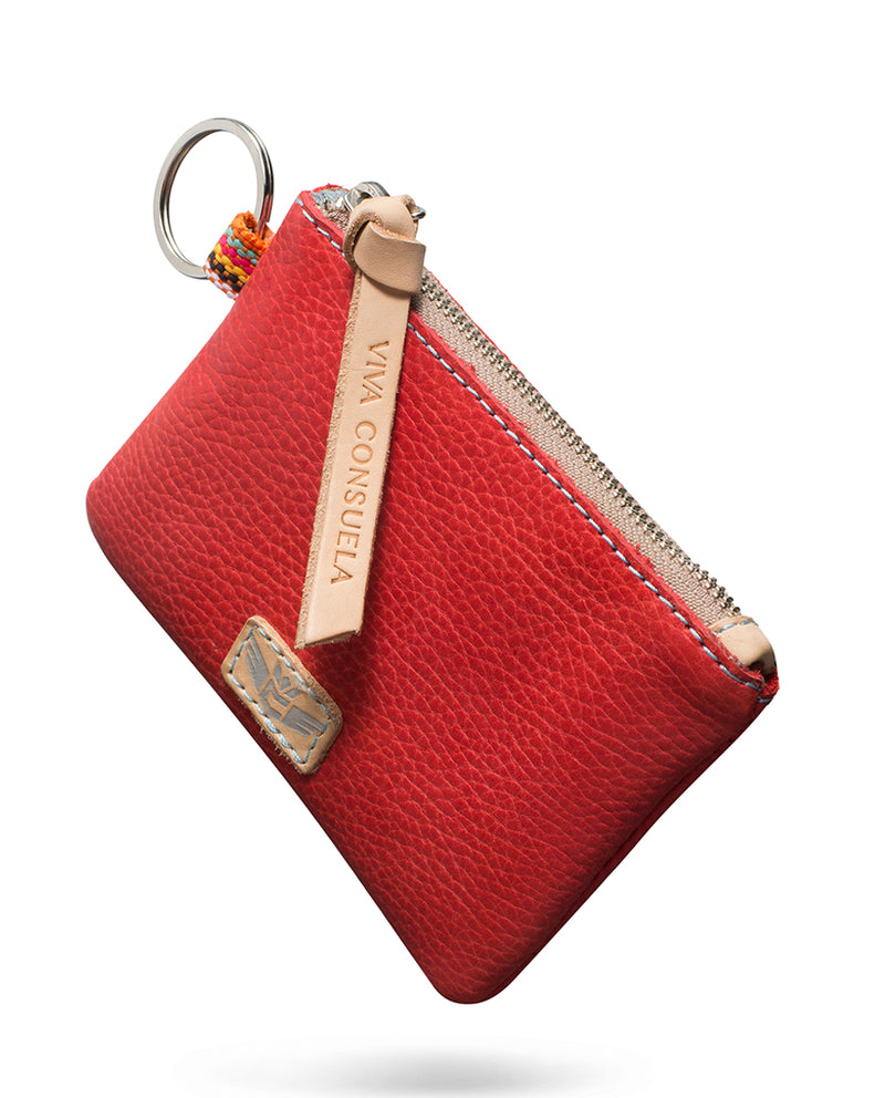 Valentina Pouch in red leather by Consuela, front view 2