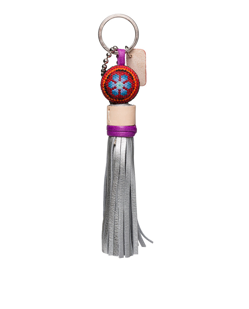 Sonoma Charm beaded with leather tassel by Consuela, back view