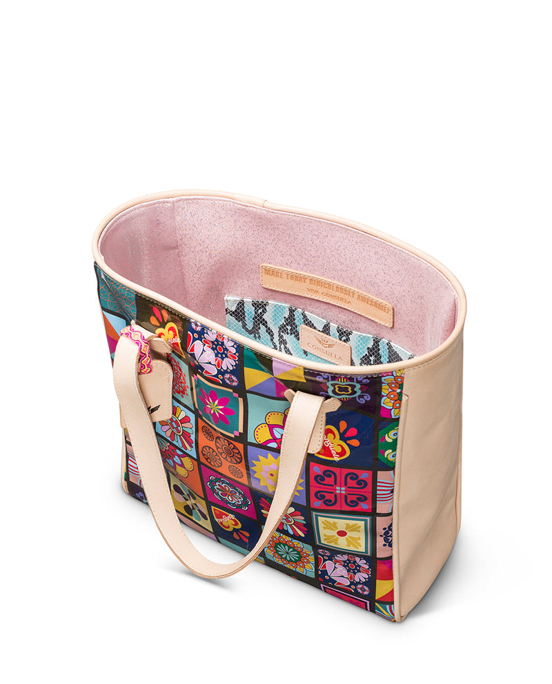 Allison Classic Tote in ConsuelaCloth™ by Consuela, interior slide pocket