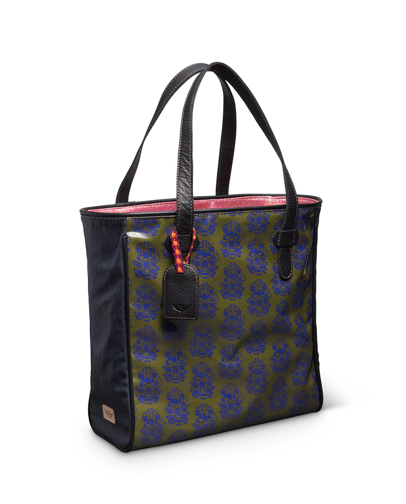 Audrey Classic Tote in ConsuelaCloth™ by Consuela, side view