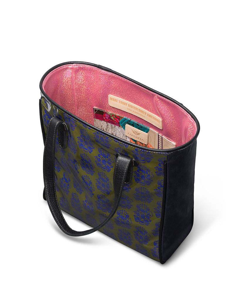 Audrey Classic Tote in ConsuelaCloth™ by Consuela, interior slide pocket