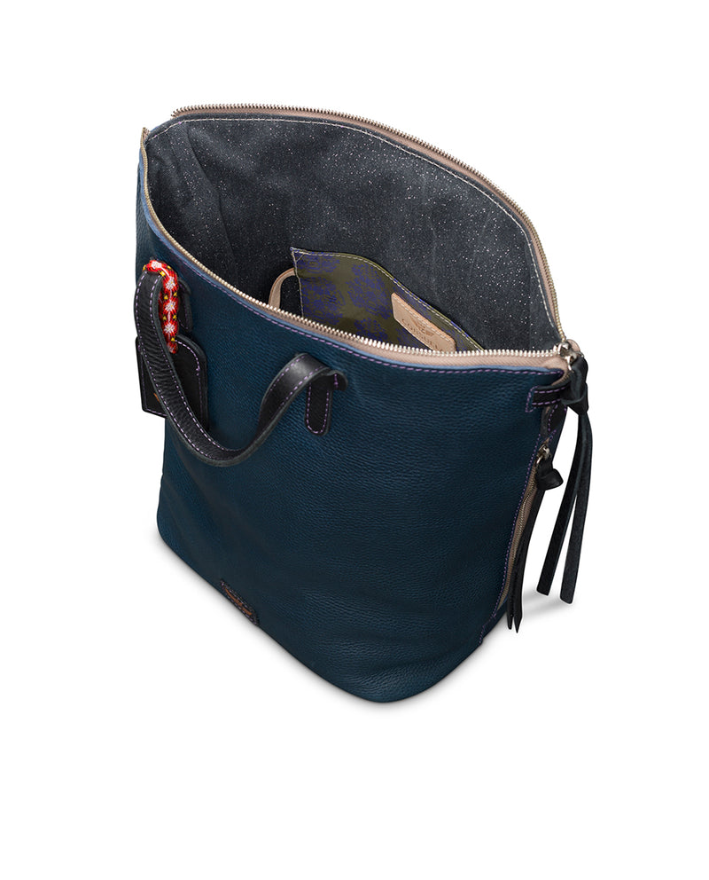 Adelita Sling in navy pebbled leather by Consuela, interior view 2