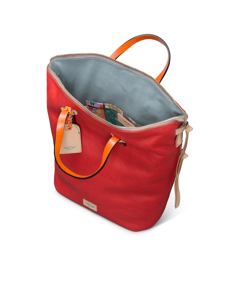 Valentina Sling in red pebbled leather by Consuela, interior view 2