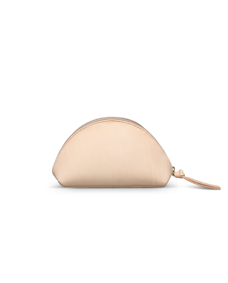 Diego medium cosmetic in natural leather by Consuela, back view