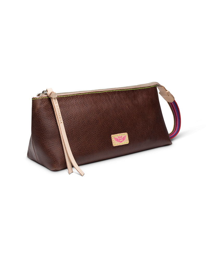 Magdalena tool bag in brown leather by Consuela, side view