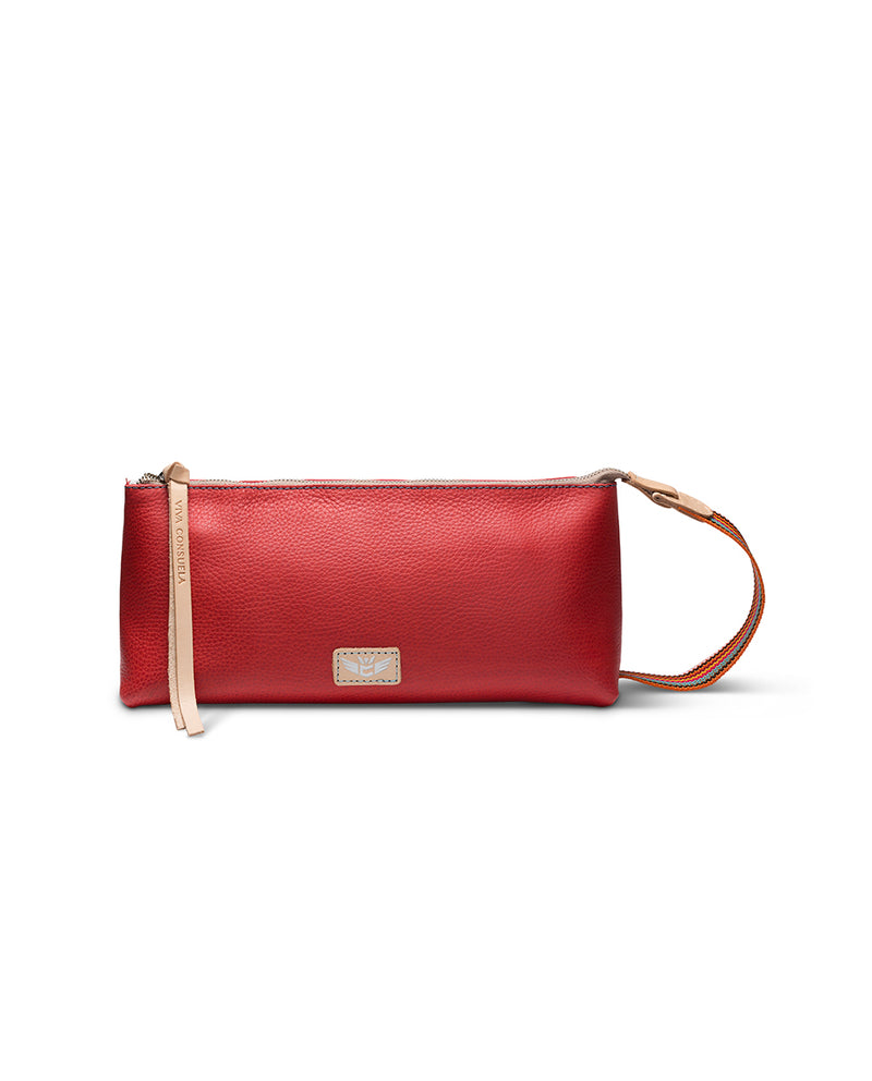 Valentina tool bag in red leather by Consuela, front view