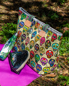 Sugar Skulls Zipper Tote