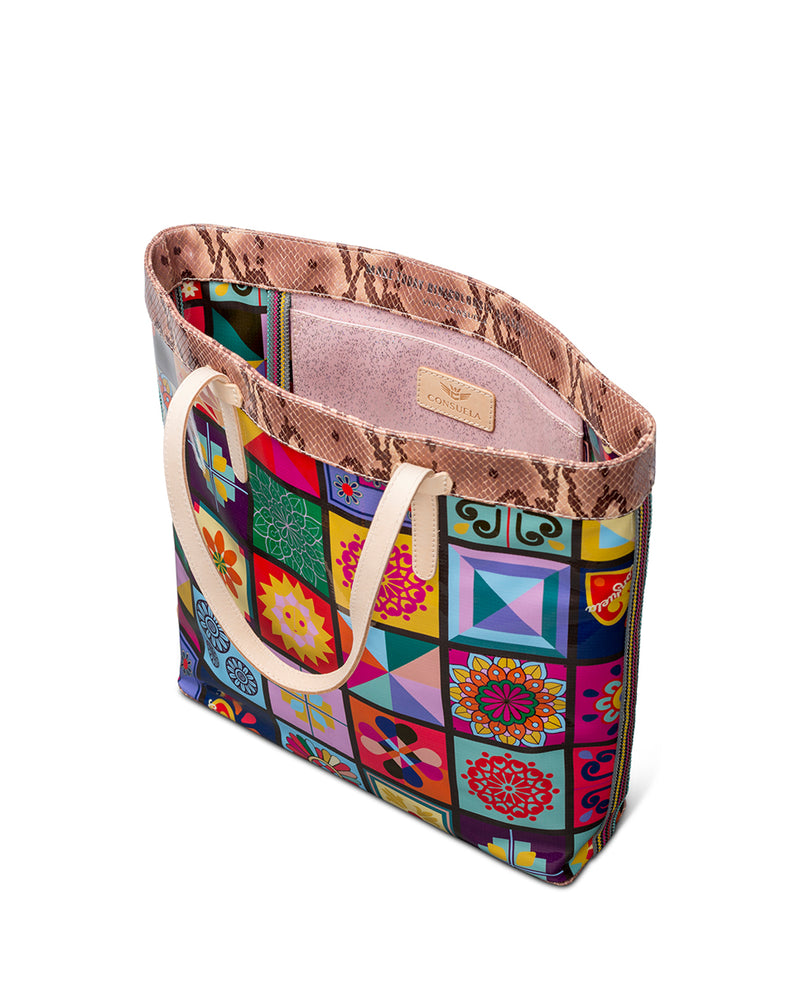 Allie Slim Tote in ConsuelaCloth™ by Consuela, interior slide pocket