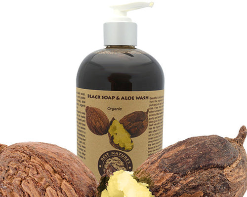 Organic Black Soap & Aloe Wash 8oz/240ml