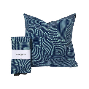 'Blue Wave' Cushion Cover