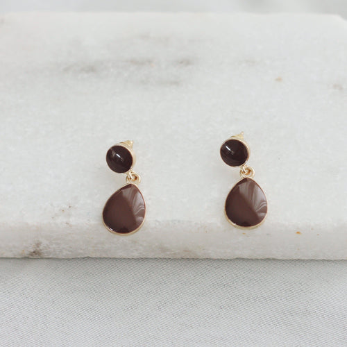 'Pelumi' Earrings | Chocolate-Anna Philip London-Yard + Parish